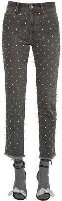 Isabel Marant Embellished Cotton Denim Jeans