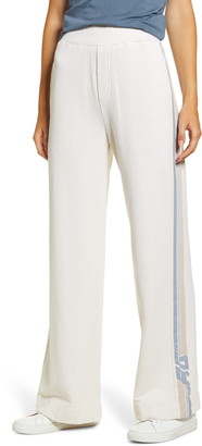 AG Jeans Swetta Logo Stripe Cotton Flare Pants