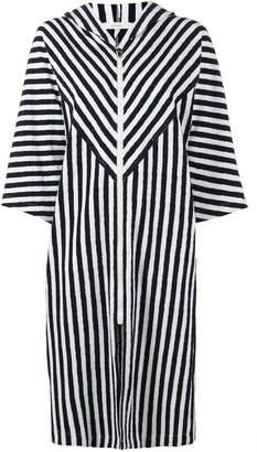 Araks Margot stripe hooded cover-up