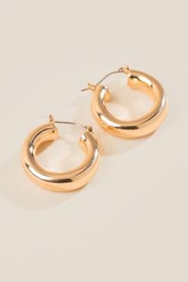 francesca's Lucca Thick Hoops - Gold