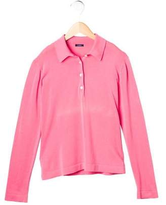 Malo Girls' Long Sleeve Polo Top