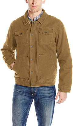 G.H. Bass Men's Laydown Collar Two Pocket Depot Jacket with Woodsman Plaid Lining