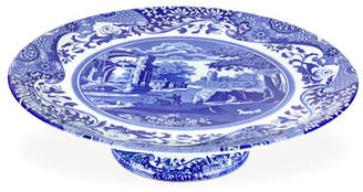 Spode Blue Italian Footed Cake Plate