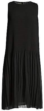 Eileen Fisher Women's Textured Dropped Waist Pleated Dresss