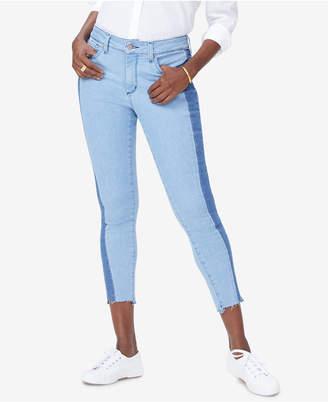 NYDJ Ami Two-Tone Tummy-Control Skinny Jeans