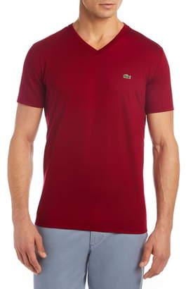 Lacoste Regular Fit V-Neck Cotton T-Shirt