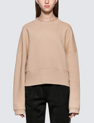 Alexander Wang.T Heavy French Terry Wide Neck Sweatshirt