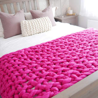 Dartington Lauren Aston Designs Chunky Hand Knitted Throw