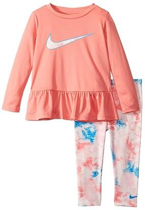 Nike Dri-FITtm Peplum Tunic Top and Leggings Two-Piece Set (Toddler)