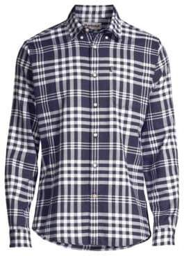 Barbour Men's Nautical Endsleigh Check Button-Down Shirt - Navy - Size XL