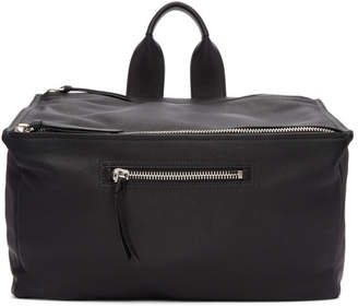 Givenchy Black Leather Pandora Messenger Bag