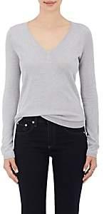 Barneys New York Women's Silk-Cashmere V-Neck Sweater - Gray