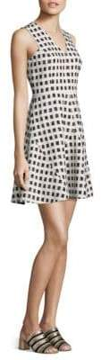 Derek Lam 10 Crosby Gingham Fit-&-Flare Dress