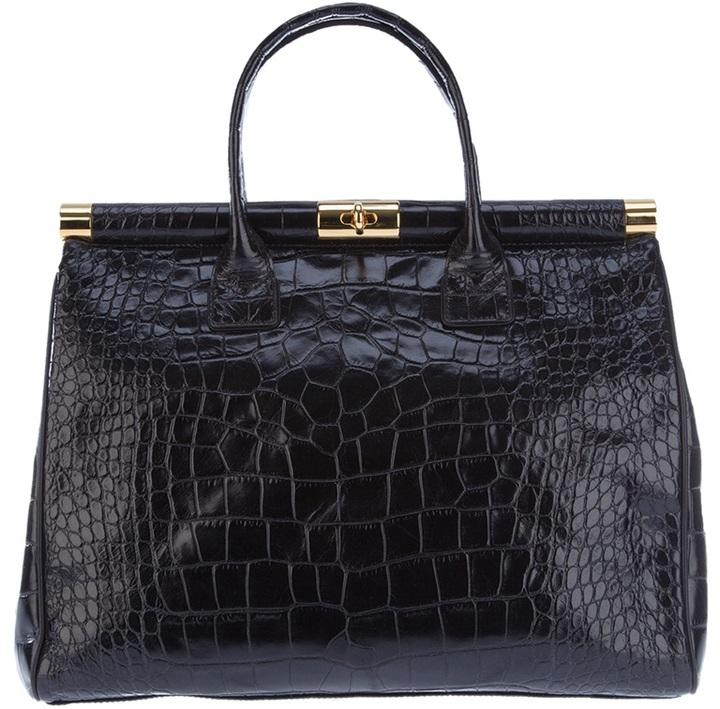 Giuseppe Zanotti Design Crocodile embossed leather tote