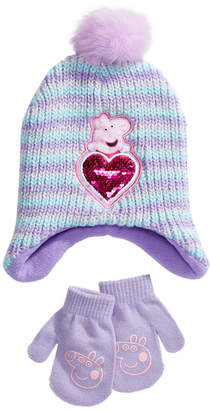 Peppa Pig Accessory Innovations Toddler Girls 2-Pc. Hat & Mittens Set