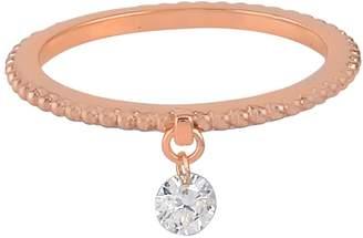 Artisan 14K Rose Gold Designer Diamond Ring