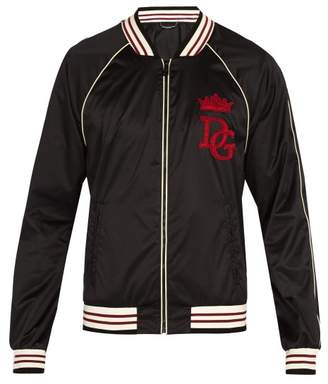 Dolce & Gabbana College Style Bomber Jacket - Mens - Black