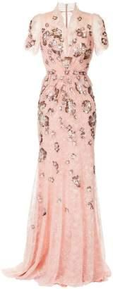 Jenny Packham embellished floral gown