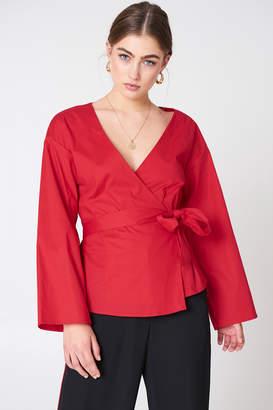 NA-KD Na Kd Wrap Kimono Blouse Black