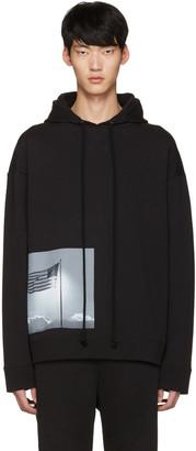 Raf Simons Black Robert Mapplethorpe Edition American Flag Hoodie $590 thestylecure.com