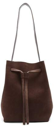 Mansur Gavriel Drawstring Hobo leather-lined suede bag