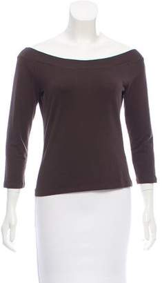 Max Mara Long Sleeve Bateau Neck Top
