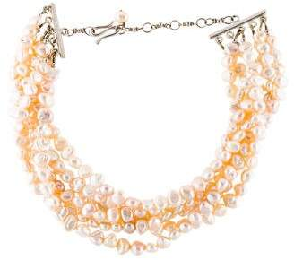 Elizabeth Showers Multistrand Pearl Necklace