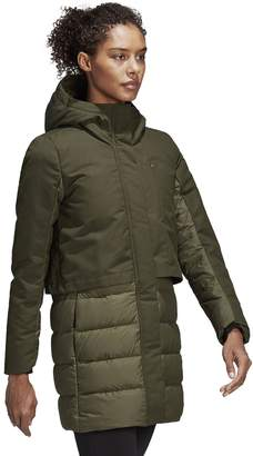 adidas Outdoor Women's Outdoor Hooded Climawarm Down Jacket