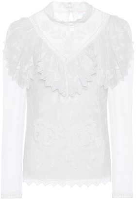 See by Chloe Ruffled lace top