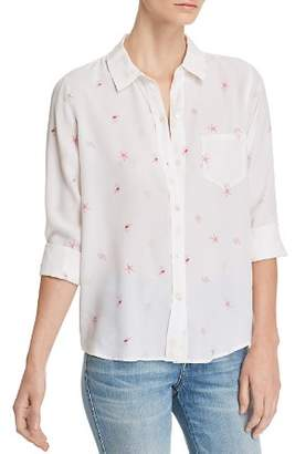 Rails Kate Seashell Print Silk Shirt