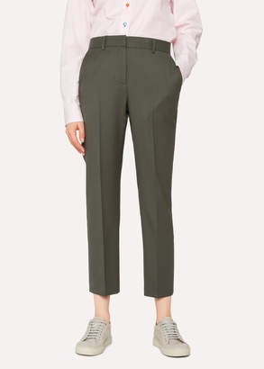 Paul Smith A Suit To Travel In - Women's Slim-Fit Khaki Wool Pants