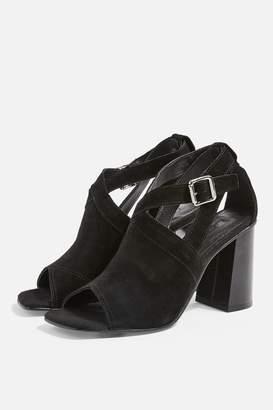e37233c666d Topshop Womens Narnia Black Block Heels - Black