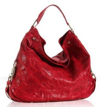 Rebecca Minkoff scarlet leather 'Nikki' shoulder bag
