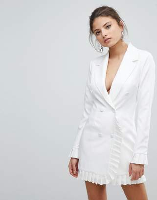 Missguided Pleat Trim Blazer Dress