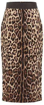 Dolce & Gabbana Leopard crepe pencil skirt