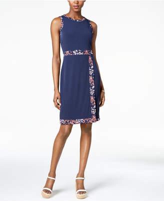 Michael Kors Border-Print Faux-Wrap Dress