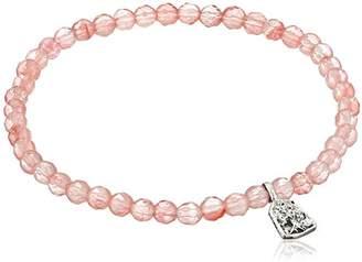 Satya Jewelry Classics Cherry Quartz Tree of Life Stretch Bracelet