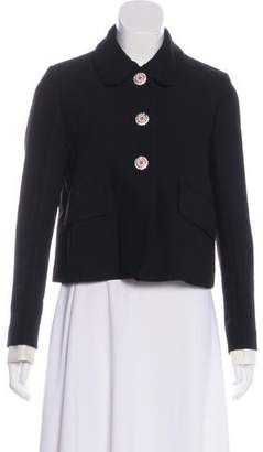 Miu Miu Rounded Collar Rhinestone Jacket w/ Tags