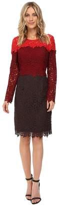 NUE by Shani Tricolor Lace Dress Women's Dress