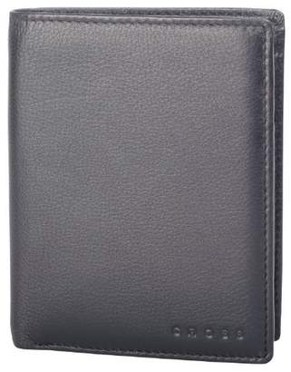 Cross Men's 100% Genuine Leather North Bi fold Credit Card Wallet -Classic Men- Black-AC068008-1