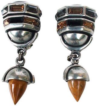 One Kings Lane Vintage Citrine - Topaz & Tigers Eye Earrings