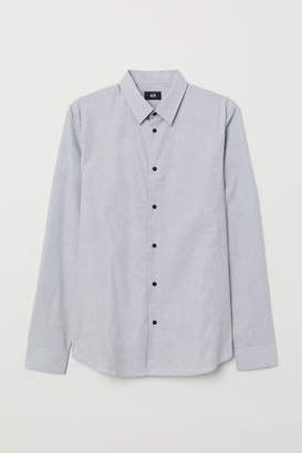 H&M Shirt Muscle fit - Gray