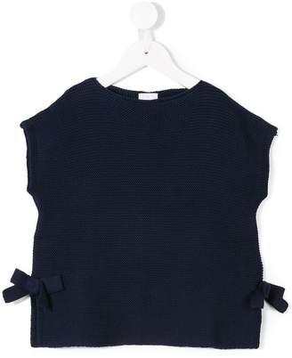 Il Gufo knit bow top