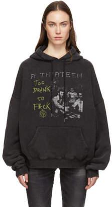 R 13 Black Too Drunk Hoodie