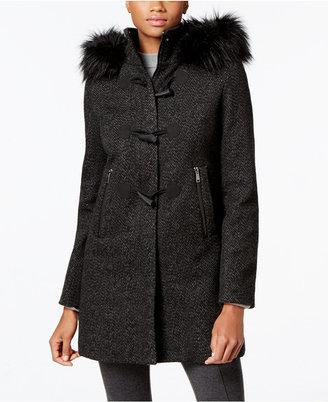 Nautica Faux-Fur-Trim Toggle-Front Coat $275 thestylecure.com