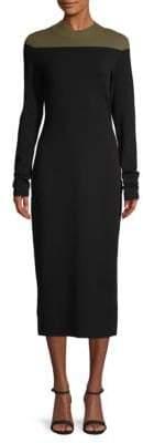 Diane von Furstenberg Two-Tone Midi Sweater Dress