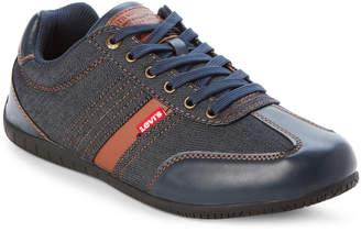 Levi's Navy & Tan Solano Denim Low-Top Casual Sneakers