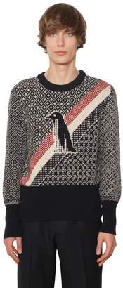 Thom Browne Penguin Jacquard Wool & Mohair Sweater