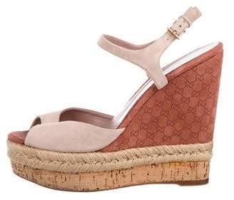 Gucci Guccisima Wedge Sandals