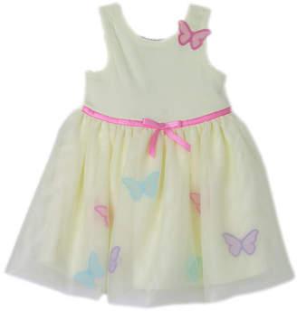 LILT Lilt Sleeveless Ribbon Butterfly Dress - Baby Girls